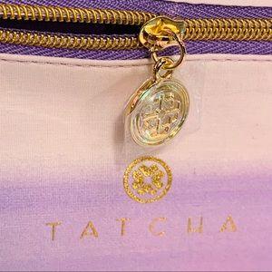 Tatcha Makeup - Gorgeous TATCHA purple travel bag gold zipper NWT